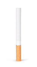 Niedopałki papierosów na białym tle