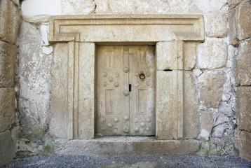 massive stone door