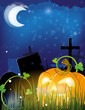 Jack o lantern on a cemetery