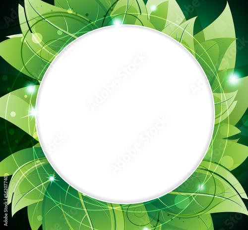 Lush foliage frame