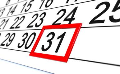 31 Kalender