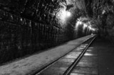 Tunnel in Polish salt mine Bochnia Wieliczka B&W - 56208765