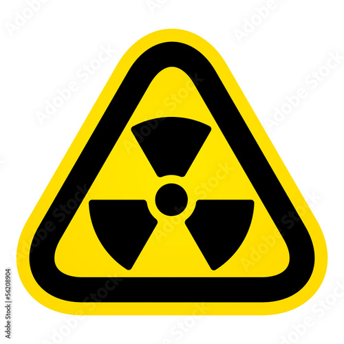 Hazard radioactivity sign