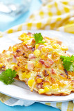 Vegetable Fritters with Ham