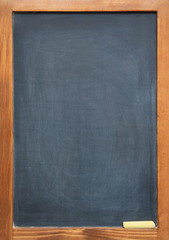 blank blackboard in a frame