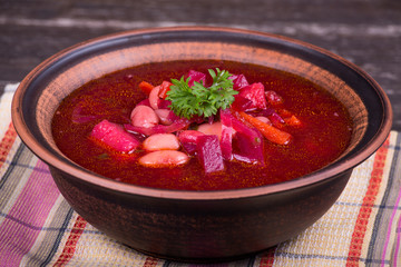 Russian and ukraine cuisine - borsch