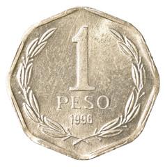 One chilean peso coin