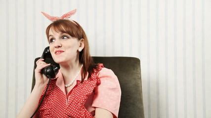 Young woman enjoying a phone conversation