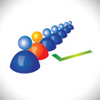 concept of selecting or hiring right staff, worker or employee
