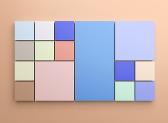 Square background with pastel colors