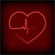 heart on a cardiogram