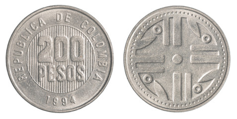 5 Colombian pesos coin