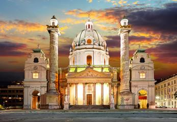 Vienna - Karlsplatz - St. Charles's Church - Austria