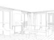 Modern interior drawing