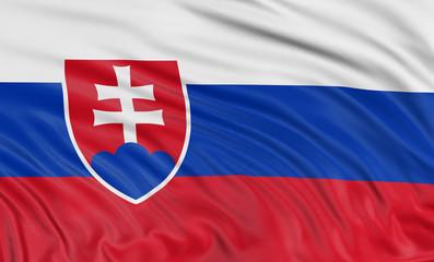 3D Slovak flag
