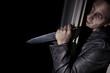 Psychokiller mit Messer