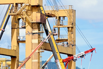 demolition of a port crane