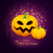 Vector Illustration of Scary Halloween Pumpkins