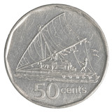 50 Fijian cents coin
