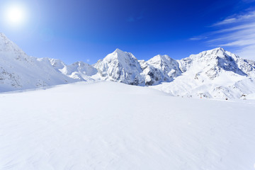 Snow-capped peaks of the Italian Alps