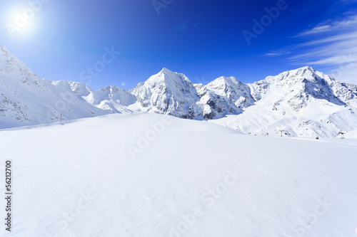 Foto op Canvas Alpen Snow-capped peaks of the Italian Alps