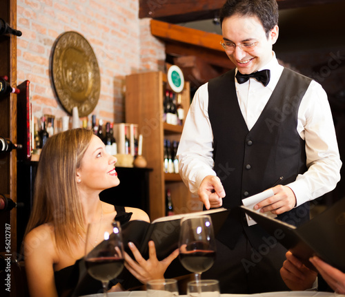 Waiter suggesting food