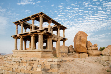 Old ancient ruins of hampi in karnataka india