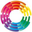 Farbkreis - Logo - Regenbogen geflochten
