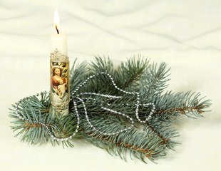 Christmas votive candle