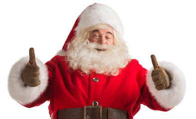 Traditional Santa Claus thumbs up