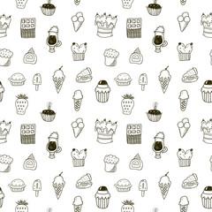 Sweets seamless pattern
