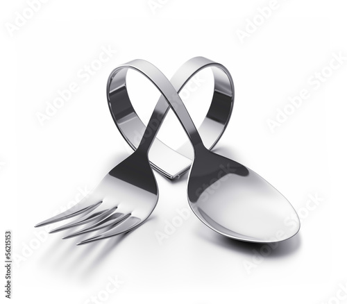 Cutlery  heart - 56215153