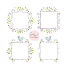 Doodle Cute Frames Set