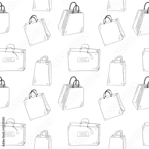 Shopping bags seamless pattern