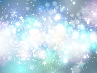 Christmas abstract blue background with stars