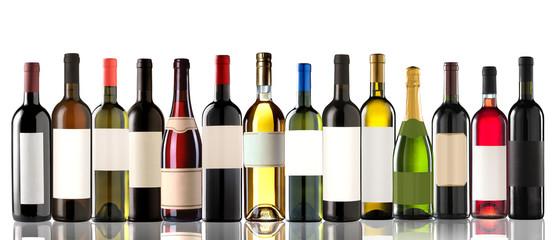 Group of several bottles
