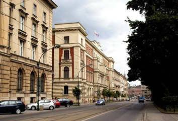 main street in Krakow's center