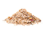 muesli isolated on white background