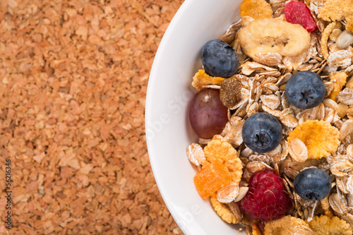 Background of muesli with space for text