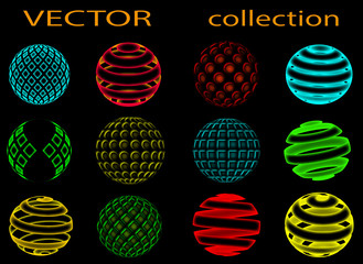 Sphere symbols, neon