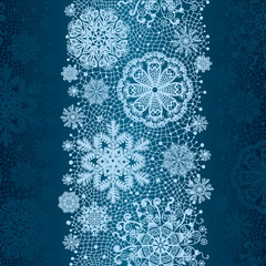 Winter abstract lace from snowflakes.