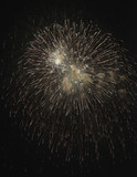 Italy, Sicily, Marina di Ragusa, fireworks on the beach