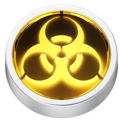 Biohazard round icon