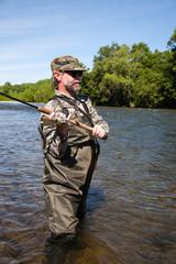 Fisherman catches of salmon