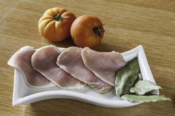 filetes frescos de lomo de cerdo