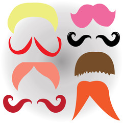 Mustaches set