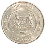 fifty singaporean dollar cents coin