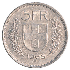 5 Swiss Francs coin