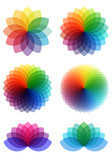 Fototapety abstract color flowers, vector set