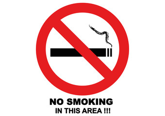 NO SMOKING_Black